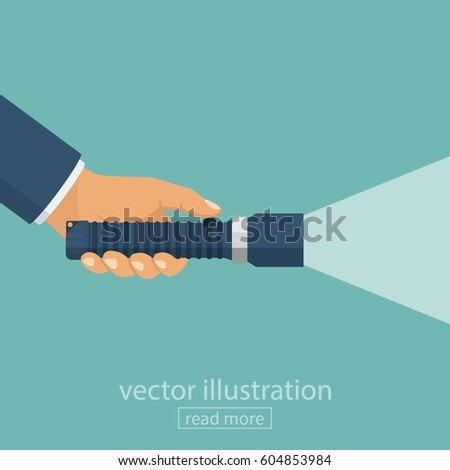 hand holding flashlight web