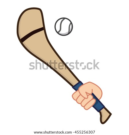 Hand holding Hurling Stick