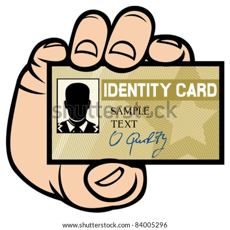 hand holding ID card