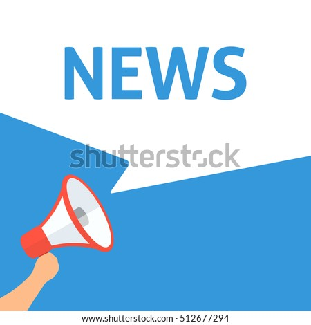 Hand Holding Megaphone With NEWS Announcement. Important Announcement. Urgent Message. News Update. Disclosure bubble. Announce important news, update, report, sale information, message, newsletter