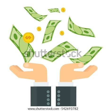 hand holding money businessman