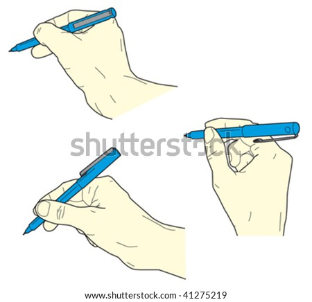 hand holding pen - writing