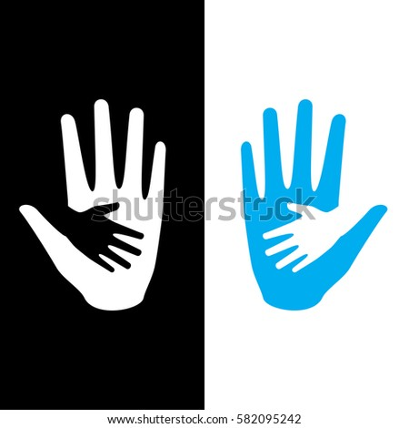 hand holding small hand for