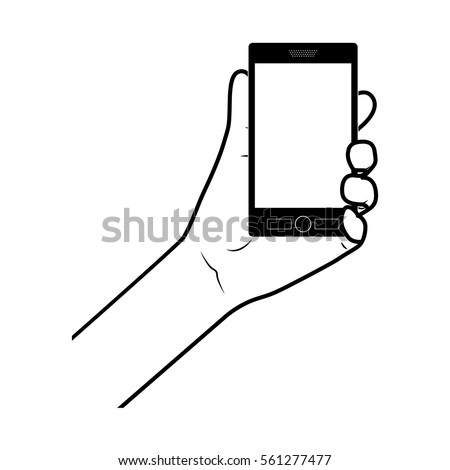 Hand holding smartphone design