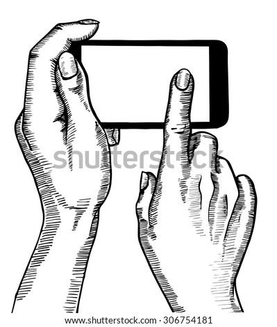 hand holding smartphone phone