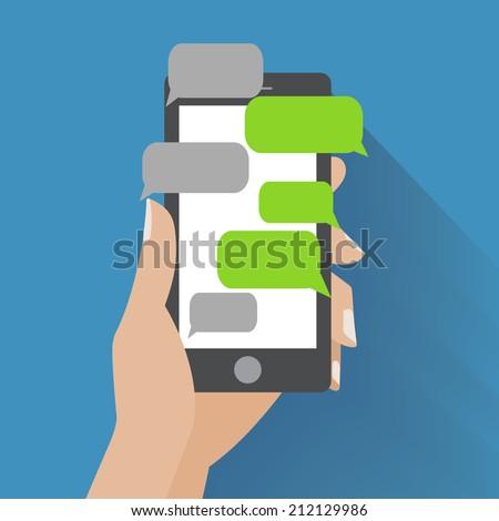 hand holing black smartphone