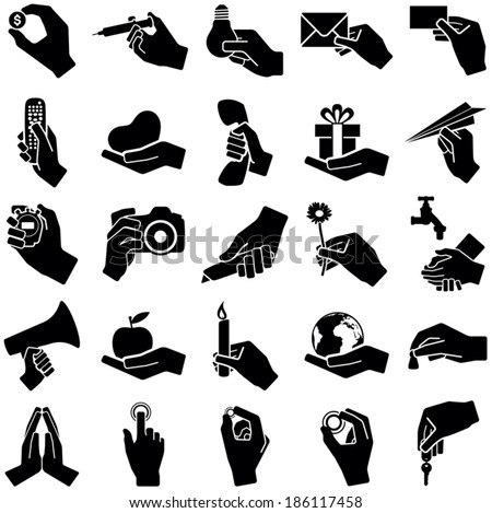 hand icon collection   vector