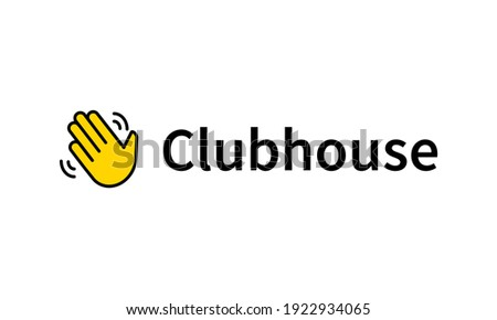 Hand icon for invite in Clubhouse social network. Clubhouse invite symbol isolated on white background. Vector EPS 10