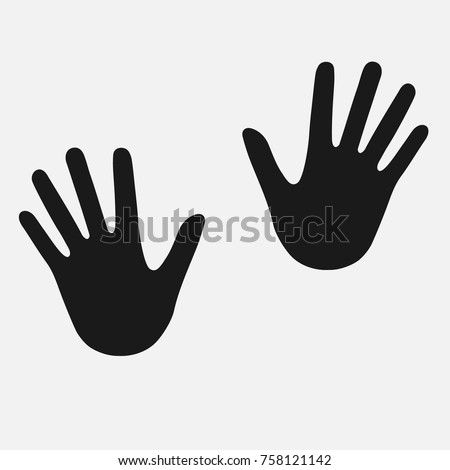 stock-vector-hand-icon-human-hand-silhouette-vector-illustration