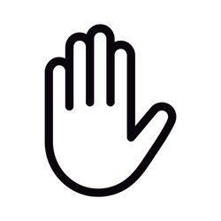 Hand icon on white background. Vector illustration