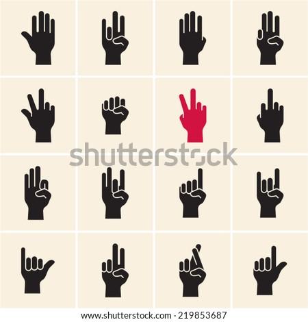 hand icon sign language