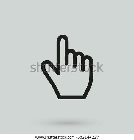 Hand icon, Touch icon, vector illustration