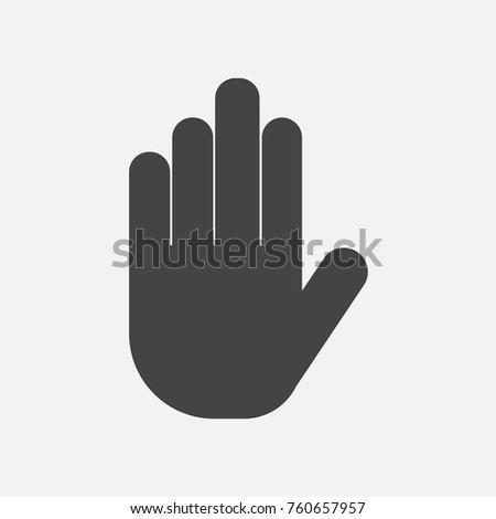 Hand icon vector. Vector hand illustration