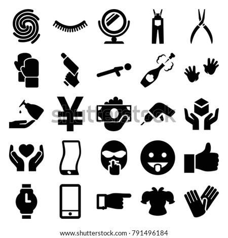 hand icons set of 25 editable