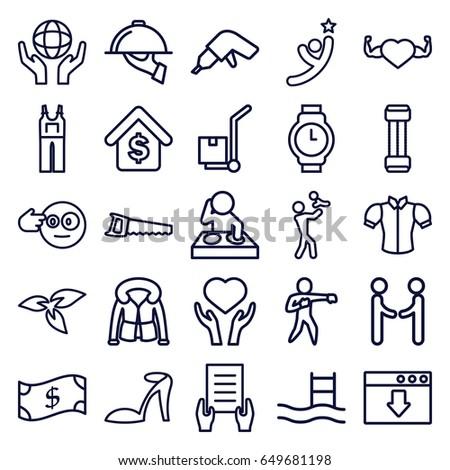 hand icons set set of 25 hand