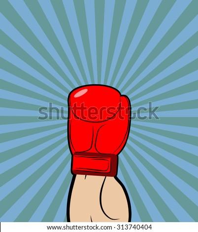 hand in boxing glove winner