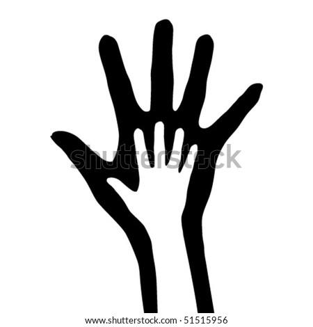 Hand in hand stock vector