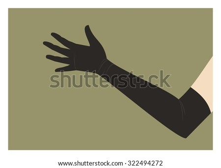 hand in long glove