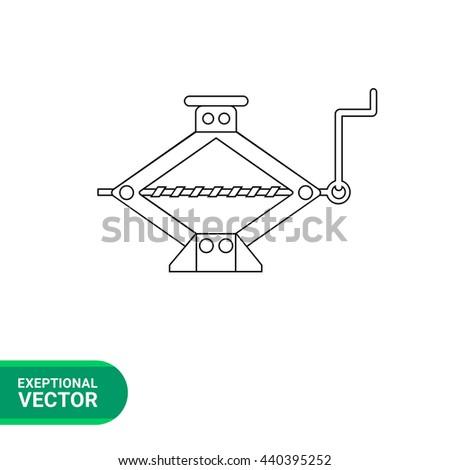 Hand jack line icon