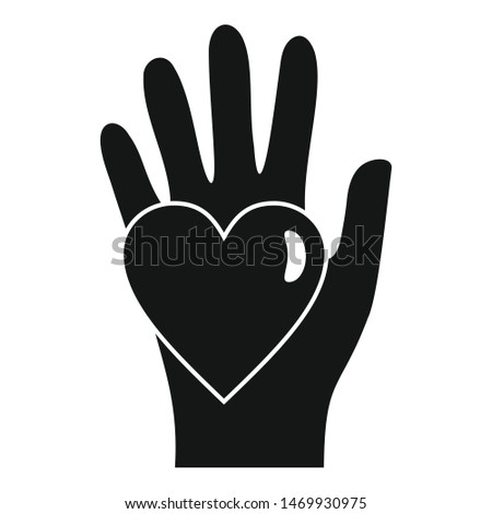 Hand keep heart icon. Simple illustration of hand keep heart vector icon for web design isolated on white background