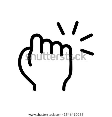 Hand knocking on door icon. Vector illustration. EPS 10 Foto d'archivio ©