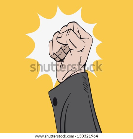 Hand knocks, vector illustration