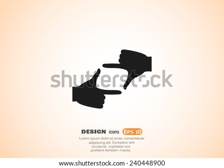 hand lens  web icon vector
