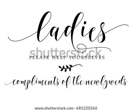 hand letter script wedding sign