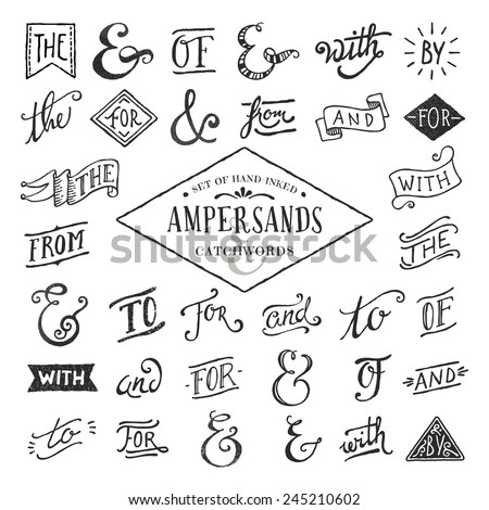 hand lettered ampersands and