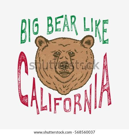 hand lettered big bear like
