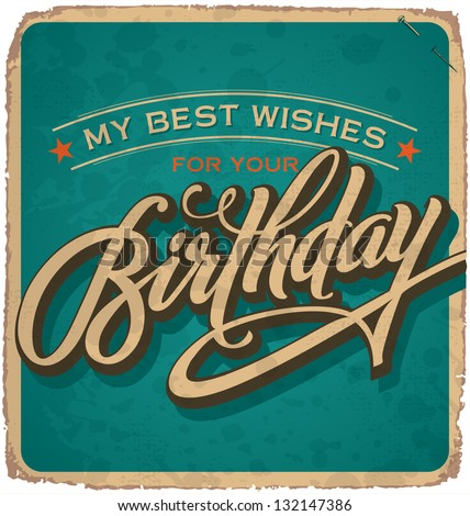 Vintage Birthday (vector)