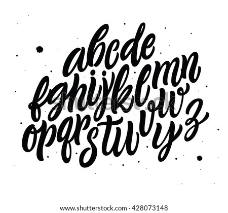 Hand Lettering and Typographic art for Designs: Logo, for Poster, Invitation, Card, etc. Handwritten style modern cursive font.