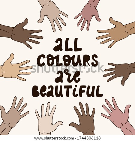 hand lettering anti racism
