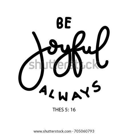 hand lettering be joyful always