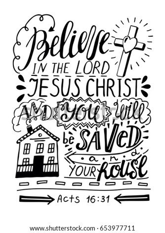 hand lettering believe in the