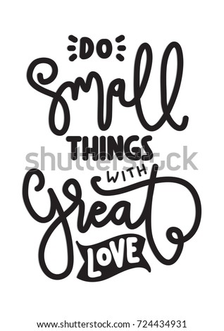 hand lettering do small things
