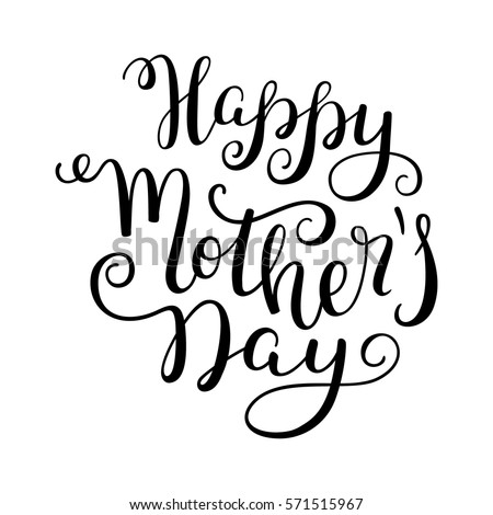 hand lettering happy mother's