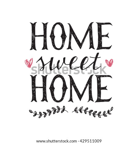 hand lettering home sweet home