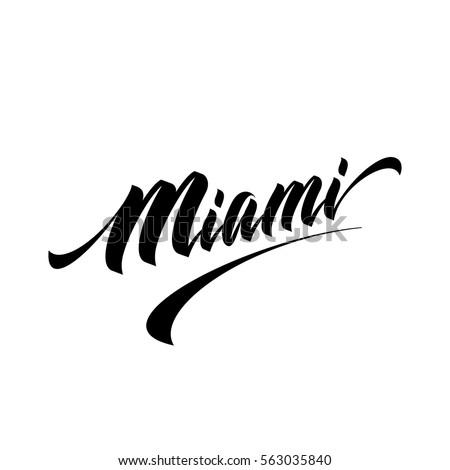 hand lettering miami logo
