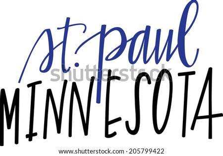Hand-lettering of St. Paul, Minnesota