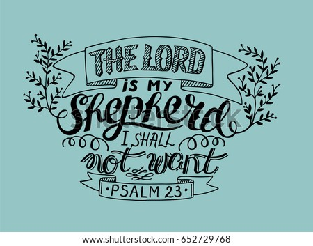 hand lettering the lord is my