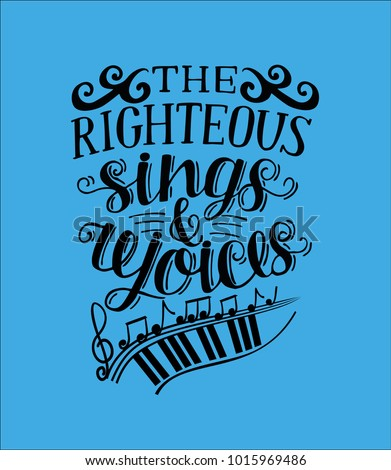 hand lettering the righteous