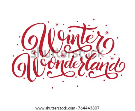 hand lettering winter