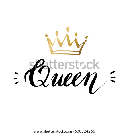 611422289 Shutterstock Hand Lettering Word Queen Background on screen display