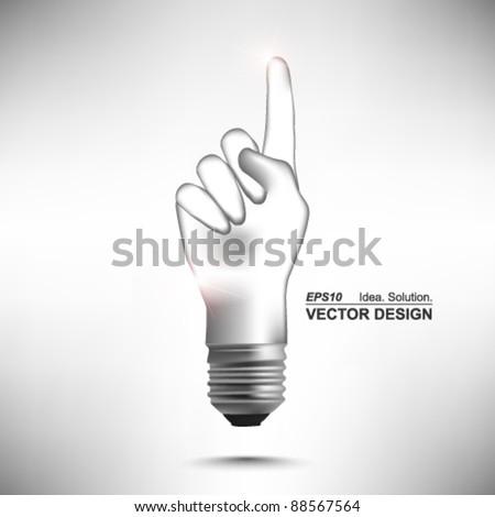 hand lightbulb conceptual vector design