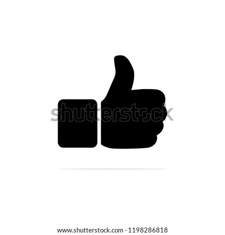 Hand Like icon. Vector concept illustration for design.
