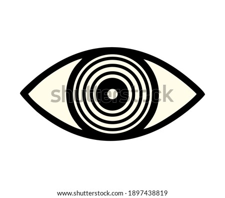 hand made eye and outline for