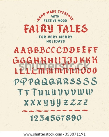 hand made font 'fairy tales'