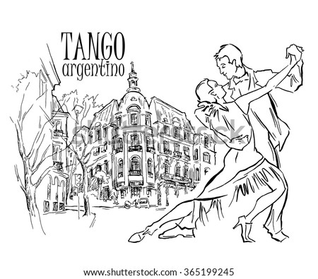 hand made sketch of tango