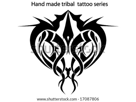 stock vector hand made tribal tattoo
